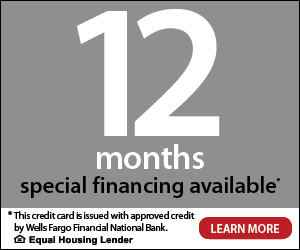 12 Month Special Financing Availible