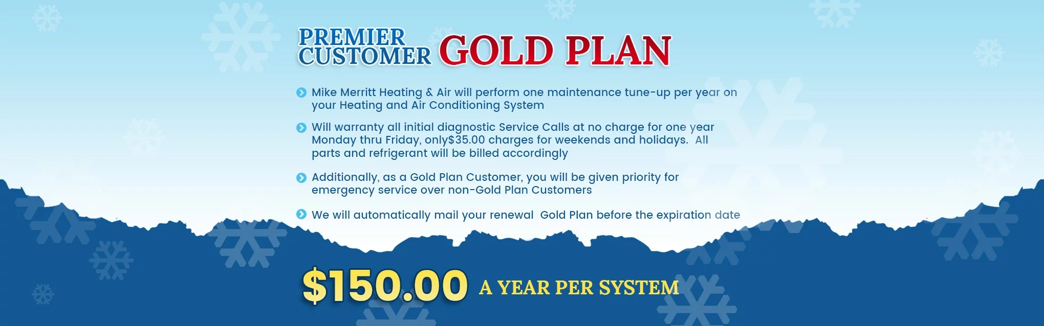 Premier Customer Gold Plan - $150.00 a Year Per System